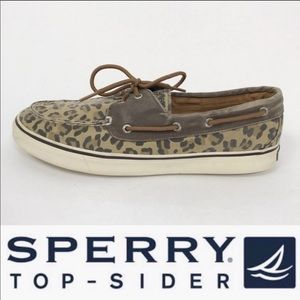 Sperry Top-Sider leopard canvas boat shoes 10M